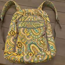 Vera Bradley Campus Quilted Backpack Laptop Case Padded Lemon Parfait