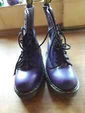 Púrpura 10 orificios de acero puntera médico Martin Talla 6