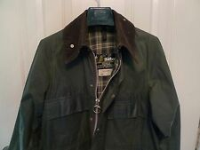 BARBOUR-  A100 BEDALE  WAXED COTTON JACKET - RARE -4 FRONT POCKETS- MADE @ UK-38