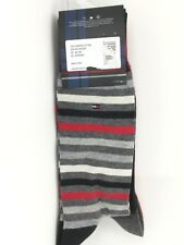 Men's TOMMY HILFIGER BOLD Festive 73% COTTON Dress Socks - 4 Pack- $36 MSRP- 25%