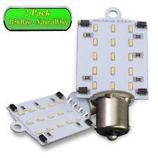 2X 1156 BA15S 3528 15 SMD LED RV Camper Trailer White Bulbs Interior Light 12V