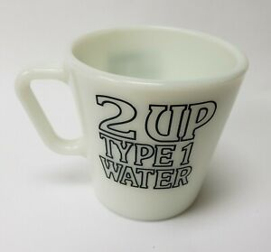 Vintage Pyrex Corning Mega Pure Products Coffee Mug Cup 2 Up Type 1 Water