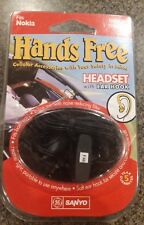 Sanyo Hands Free Headset w/Ear Hook, Fits Nokia Series 5100, 6100, 7100, NIP