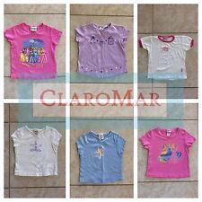 ☀️ Lot 6 Girls Disney Princess Green Dog Pink Purple Blue White Shirts 4-6