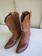 Dan Post Mens Cowboy Western Boots Size 10.5 B Style 6836 Leather & Skin