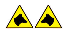 SECURITY DOGS Sticker Head Magnet K9 Unit DOG SECURITY SIA PATROL 300mm x 2