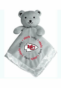 Kansas City Chiefs Baby Security Bear Blanket, NFL Licensed 14X14 Gray