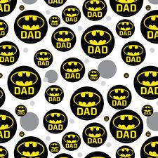 Batman Bat Dad Shield Logo Premium Gift Wrap Wrapping Paper Roll