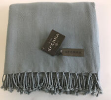 """Sferra Cortland Cashmere Throw w Knotted Fringe Color: Seamist, Size: 51"""" x 71"""""""