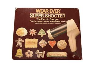 Vintage Wear-Ever Super Shooter Electric Foodgun Cookie Maker Complete 70123 NEW