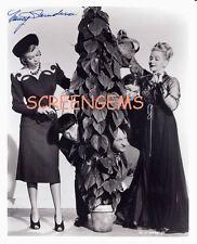 "Three Stooges signed photo Nancy Saunders costar ""Brideless Groom"" Shemp RARE"