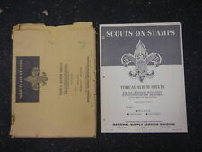 Stamp Album Topical Album Sheets Scouts on Stamps National Supply Service