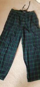 Men's Medium Nautica Sleep Pants  green/navy plaid used