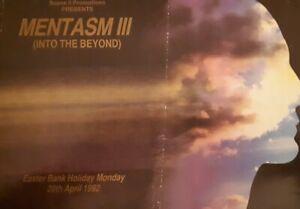 Mentasm'3 20.4.92 @ ritzy Doncaster rave flyer