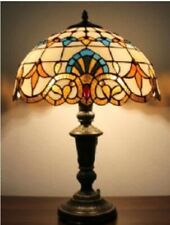 Tiffany Style Table Lamp Handcrafted Desk Bedside Art amps Stained Glass Light