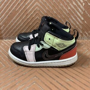 Nike Jordan 1 Mid TD Glow In The Dark (TD) Multi Color Toddler 7C AV5172-076