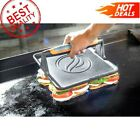 Cast Iron Griddle Press W/Rubber Handle Burger Bacon  Grill Press FAST SHIPPING