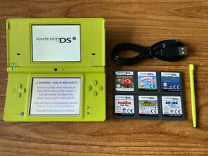 Nintendo DSi Yellow Handheld System Console Bundle +6 Games & Charger