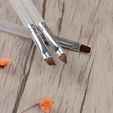 3 tlg Nagel Pinsel Acryl & UV Gel Nail Art Brush Kit Pinsel Set
