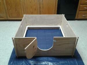 "Whelping Box Large 47"" x 47"" W /PVC Railing + LINER /Dog Puppy Pen / Free Ship"