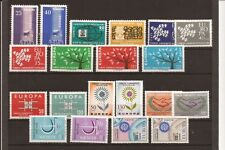 TURKEY-Europa sets-1958-1967 range, 20 stamps, all unused/hinged