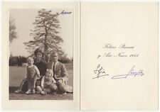 Carlos, Juan (King of Spain) & Sofia – Christmas card signed by both