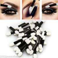 50x Disposable Double Ended Sponge Makeup Brush Eye Shadow Lip Applicator Tools