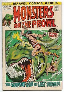 Monsters on the Prowl #16 (Marvel, 1972) – 4th appearance of King Kull – VG/FN
