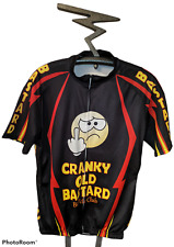 Funny CRANKY OLD BASTARD Middle Finger Emoji Lighting  Bicycle Jersey Size XXL