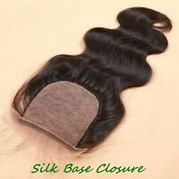 9A Virgin Hair Extension Closure Brazilian Body Wave Silk Base Closure Free Part