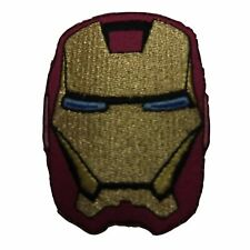 "Iron Man Mask 3 1/2"" Tall Embroidered Iron on Patch"