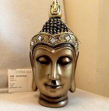 Exclusive Unique Large Buddhas Head Statue. Adorned In QUARTZ Swarovski Elements