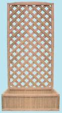 Fioriera con pannello grigliato Patio cm 90x32x180 h