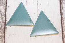 Ohrclips NEU Ohrringe clips Dreieck groß breit XL türkis grün glitzer hip style