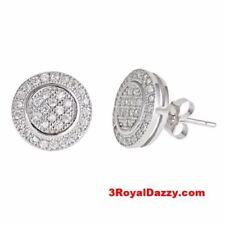 Pendientes de bisutería color principal plata con piedra de circonita