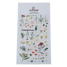 Flower Letter Sticker Diary Sticker Scrapbook PVC Stationery Stickers_ws