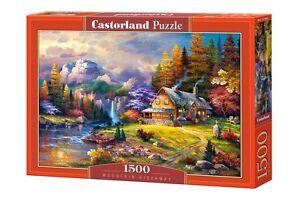 Castorland C-151462 Puzzle Mountain Hideaway Gebirge Haus Berge Natur 1500 Teile