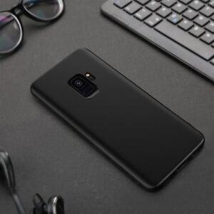 Handy Hülle Matt Schwarz Samsung Galaxy Note 8 S 9 J5 A5 2017 Silikon Back Cover