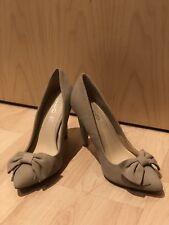 Aldo Nude Suede Bow Pumps Heels Size 5 Eur 38