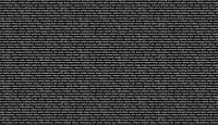 Makower Fabric Monochrome Text  Black And White - Per 1/4 Metre
