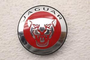 JAGUAR XF 09 10 11 12 13 14 15 CHROME RED WHEEL CENTER CAP 8W931A096AE OEM #2