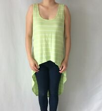 Forever 21 F21 Lime High-Low Striped Tank - Brand New Authentic Size S