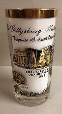 Vintage Historical Gettysburg National Bank Glass PA Souvenir CUP