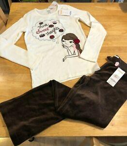Gymboree Sweet Treats shirt velveteen pants heart barrettes Sz 9 Chocolates NEW
