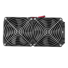 Aluminum 24cm Water Cooling cooled Row Heat Exchanger Radiator+Fan for CPU PC MC