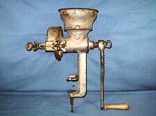 Antique Heavy Cast Iron Meat Grinder Made in Poland Table Mount Industrial