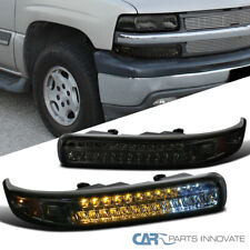 For 99-02 Chevy Silverado 00-06 Tahoe Suburban Smoke LED Bumper Signal Lights