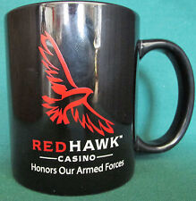 RARE RED HAWK CASINO MUG    HONORS OUR ARMED FORCES   VETERANS DAY