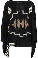 $2498 Ralph Lauren Navajo Black Label Embellished Poncho Sweater NWT NEW 1X 2X