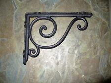 Cast Iron Set/2 Small Simple Bracket Brace Home Wall Shelf Table Garden Decor